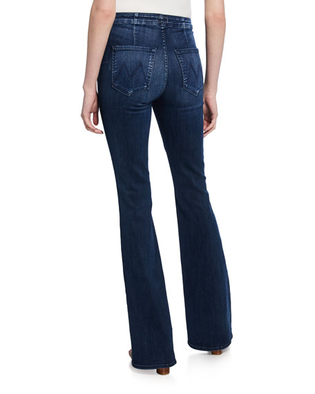 MOTHER The Hollywood Pixie Cruiser Flare Jeans