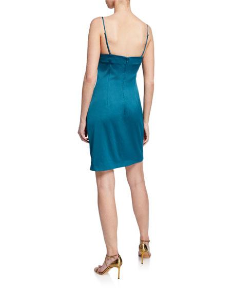 Elliatt Backstage Cowl-Neck Mini Slip Dress