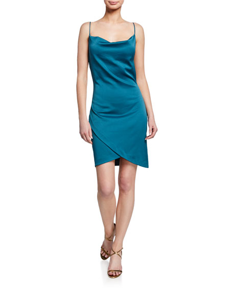 Elliatt BACKSTAGE COWL-NECK MINI SLIP DRESS