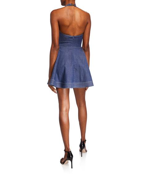 Alexis Tarrana Halter Flounce Short Dress