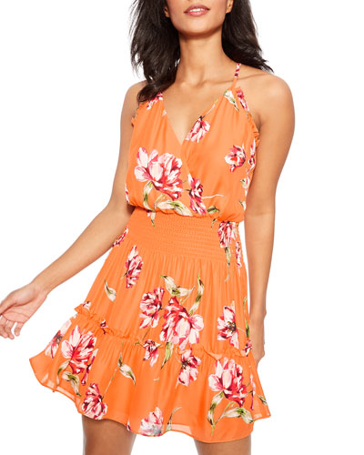 Fabianna Floral-Print Short Dress
