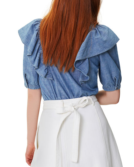Citizens of Humanity Jolene Ruffled Button-Down Blouse