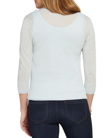 NIC+ZOE Petite 4-Way Open-Front Linen Cardigan