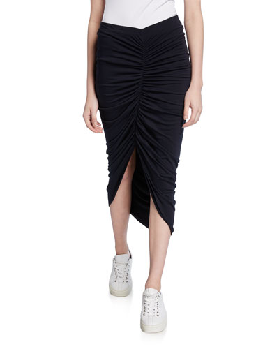 Santorini Ruched-Front Skirt