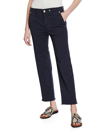 Rag & Bone Buckley Cropped Mid-Rise Chinos