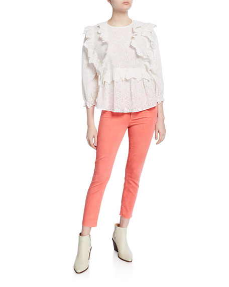 Image 3 of 3: PAIGE Verdugo Cropped Ankle Skinny Jeans