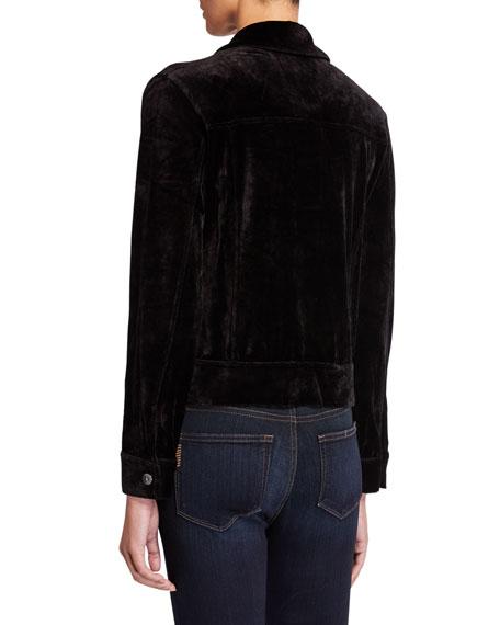 Majestic Paris for Neiman Marcus Velour Button-Down Jacket