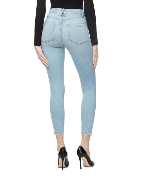Good American Good Waist Crop Distressed Skinny Jeans - Inclusive Sizing
