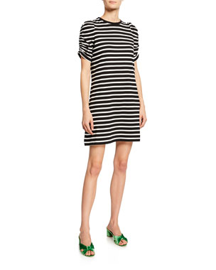56d3de44e3fdda kate spade new york sailing striped short-sleeve dress