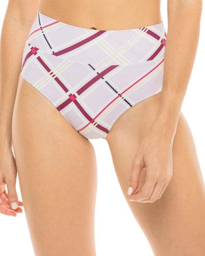 Henley Printed High-Waist Bikini Bottom