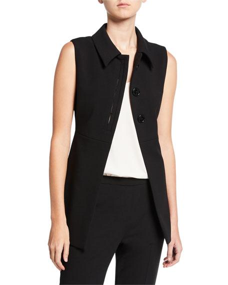 Elie Tahari Desiree 3-Button Vest In Black