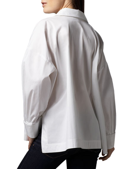 Go Silk Oversize Long-Sleeve Boxy Shirt