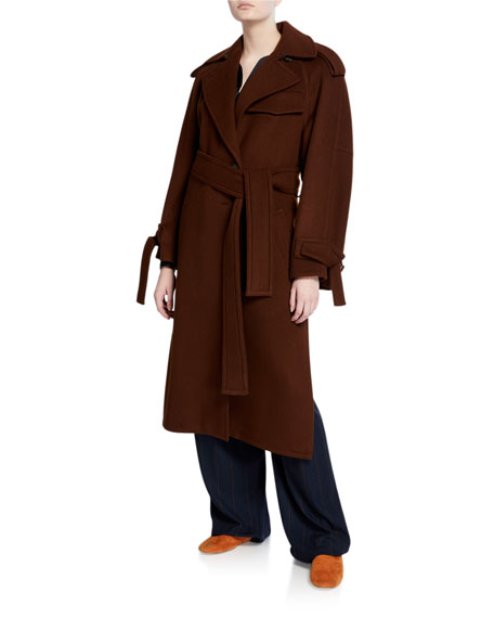Vince Belted Wool Trench Coat