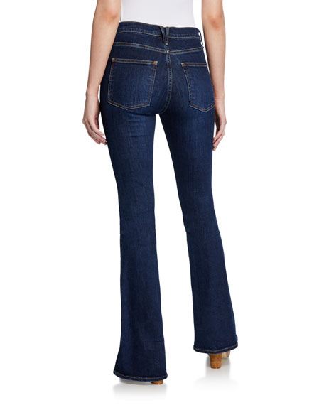 Image 3 of 4: Veronica Beard Jeans Beverly High-Rise Flare Jeans with Exposed Fly