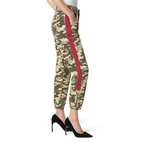 Joe's Jeans The High-Rise Camo-Print Trouser with Side Stripes