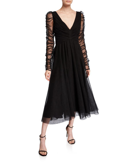 Zimmermann Espionage Long-Sleeve Tulle Ballet Dress