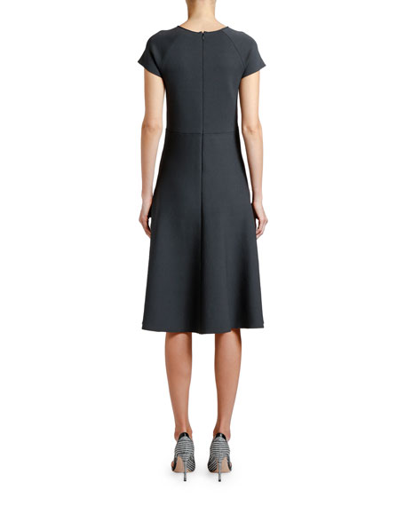 Image 2 of 2: Giorgio Armani Short-Sleeve Knitted Dress