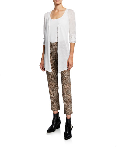 NIC+ZOE Petite Savanna Spot Printed Wonderstretch Pull-On Ankle Pants