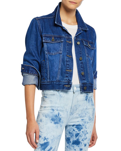 Relaxed Vivienne Washed Denim Jacket