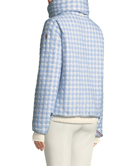 Moncler Grenoble Mufule Hooded Check Puffer Jacket