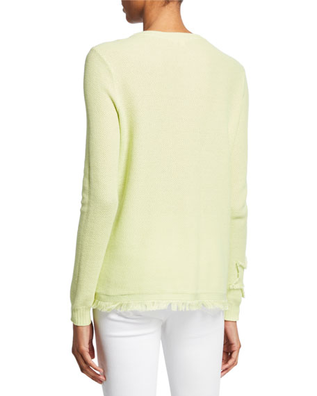 Image 3 of 3: Lisa Todd Petite Multi Fray Stars Sweater with Frayed Hem