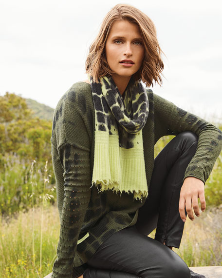 Lisa Todd Petite To Dye For V-Neck Cotton/Cashmere Sweater