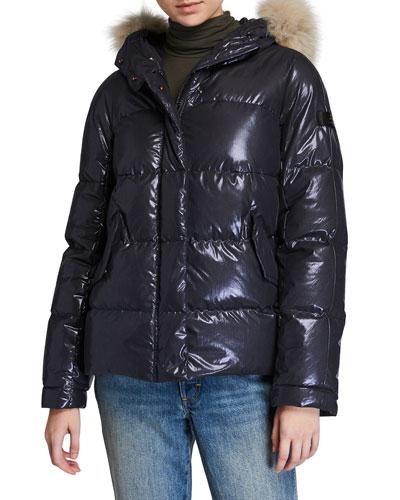 Mils Ma Fur-Trim Hooded Puffer Coat