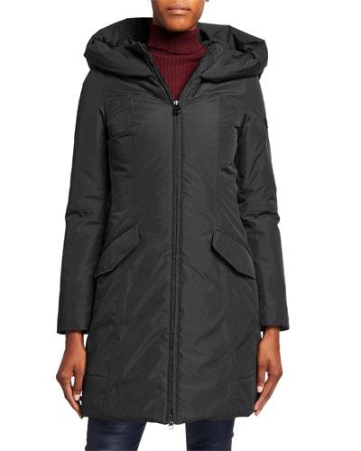Allos Hooded Mid-Length Coat