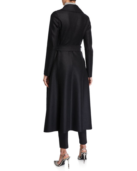 Harris Wharf London Long Pressed Wool Duster Coat