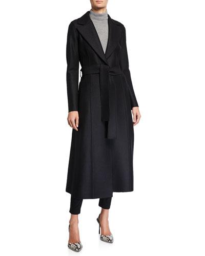 Long Pressed Wool Duster Coat