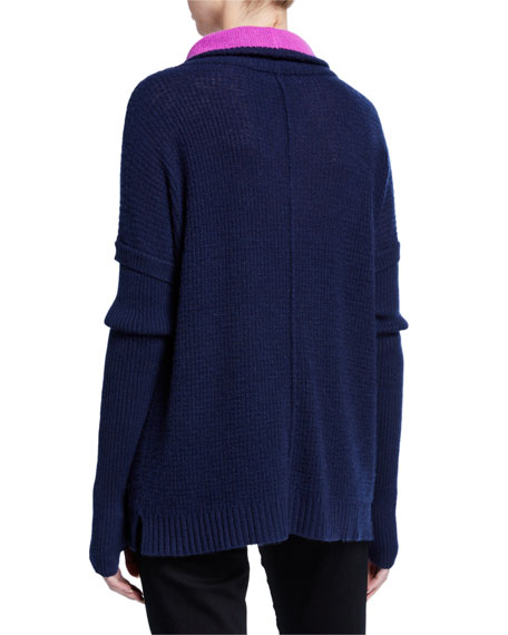 Lisa Todd Plus Size Well Traveled Cashmere Funnel-Neck Sweater