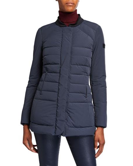 Peuterey Misae Detachable Fox Fur-Collar Puffer Coat