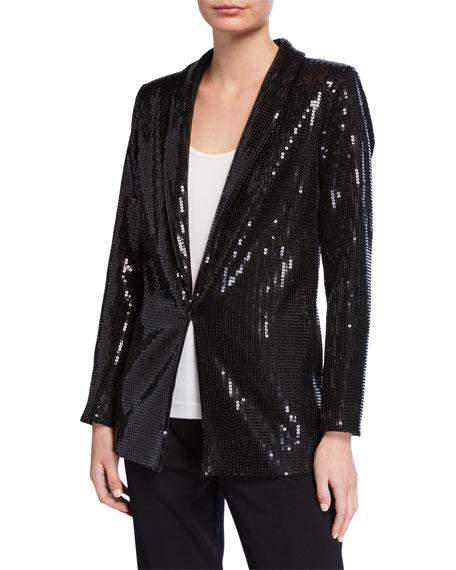 Joan Vass Petite Sequined Jacket