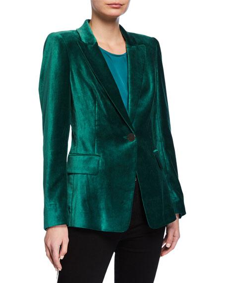 Kobi Halperin Clara One-Button Velvet Jacket