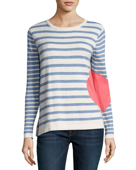 Lisa Todd Petite Striped Dot Long-Sleeve Sweater