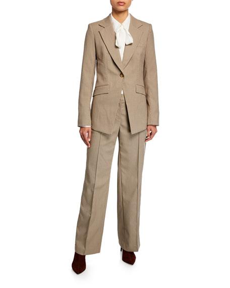 Lafayette 148 New York Winthrop Micro Check Pants