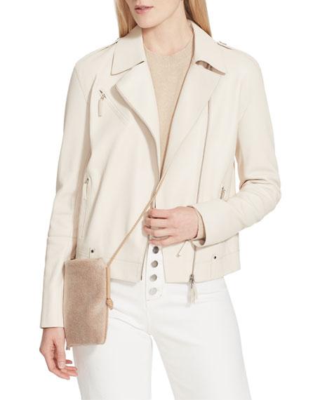 Lafayette 148 New York Bernice Full Grain Lambskin Leather Moto Jacket