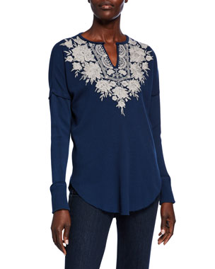 048a2bedaf67 Plus Size Designer Tops & Sweaters at Neiman Marcus