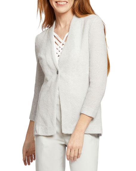 NIC+ZOE Plus Size One For All One-Button Jacket