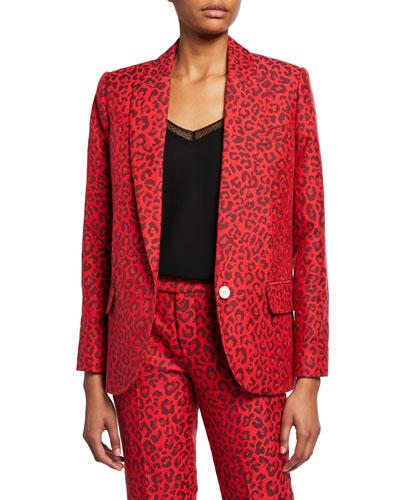 Viking Leopard-Print Jacquard Jacket