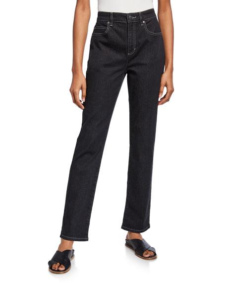 Eileen Fisher Plus Size Straight-Leg Crop Jeans