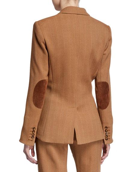 Veronica Beard Hudson Herringbone Dickey Jacket