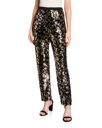 Petite Animal Sequin Pants