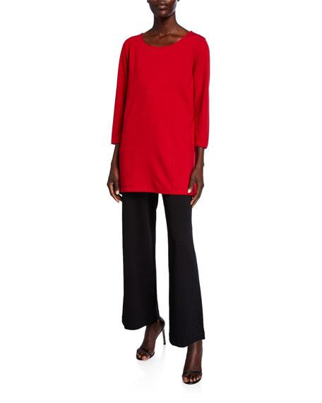 Caroline Rose Plus Size Ponte Easy Crop Pants