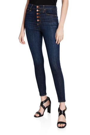 James Jeans Womens Jeans High Rise Skinny Jeans in Super Slim Medium