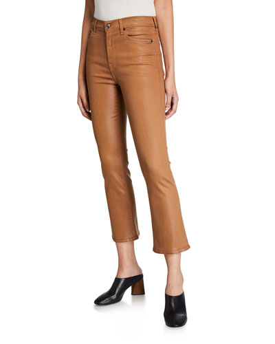 High-Waist Slim Kick Flare Jeans