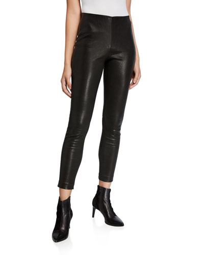 Simone Leather Ankle Pants