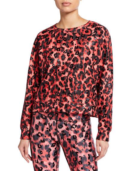 Terez Cheetah Balayage Crewneck Sweatshirt