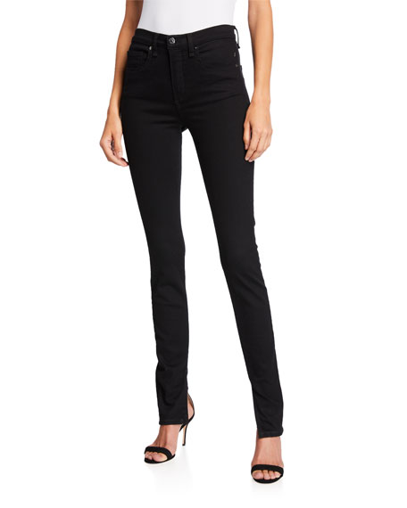 Veronica Beard Kate High-Rise Skinny Jeans with Splits