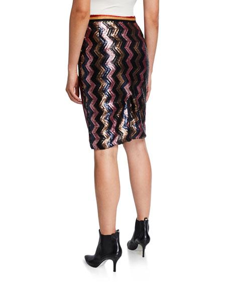 Le Superbe Sundowner Sequined Chevron Skirt